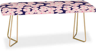 Deny Designs Joy Laforme Floral Sophistication In Navy Bench