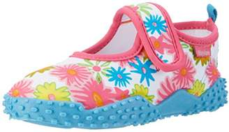 Playshoes GmbH Girls' UV Protection Aqua Shoes Allover Flowers Water (Pink), 13.5 Child UK 32/33 EU