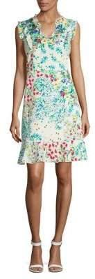 Karl Lagerfeld Paris Floral Sleeveless A-Line Dress
