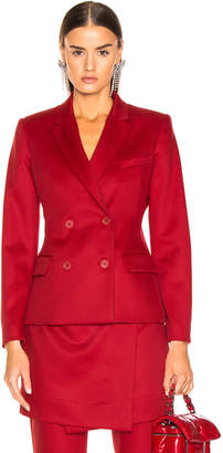 Sies Marjan Oni Woo Twill Blazer in Scarlet | FWRD