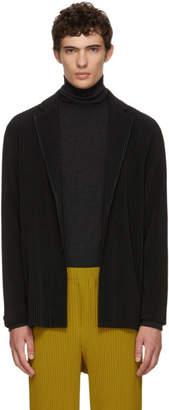 Issey Miyake Homme Plisse Black Tailored Pleats Coat