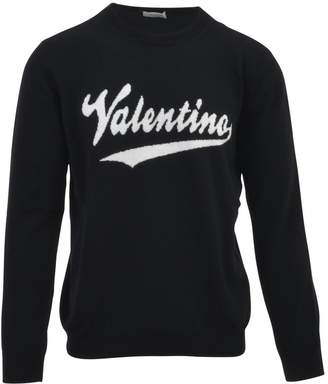 Valentino Embroidered Logo Top