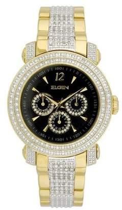 Elgin Men's Gents 3-Subdial Double Layer Watch, Goldtone