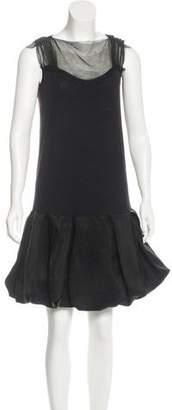 Lanvin Pleated Sleeveless Dress