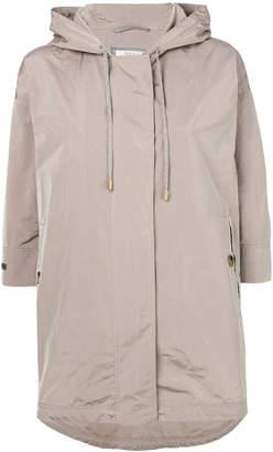Peserico cropped sleeve zip jacket