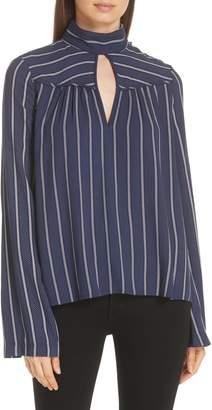 Derek Lam 10 Crosby Keyhole Neck Bell Sleeve Blouse