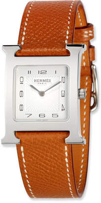 Hermes Heure H MM Watch with Epsom Leather Strap
