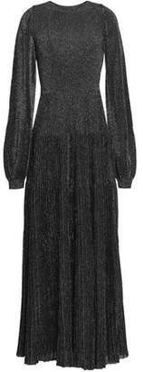 Vionnet Metallic Ribbed Stretch-Knit Maxi Dress