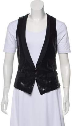 Rag & Bone Sequined Button-Up Vest