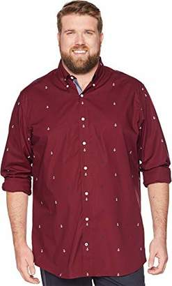 Nautica Men's Big and Tall Classic Fit Long Sleeve Multicolor Button Down Shirt