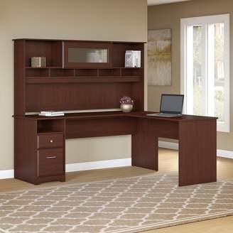 Hillsdale Red Barrel Studio L-Shaped Executive Desk with Hutch