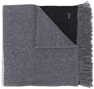 HUGO BOSS two-tone knit scarf