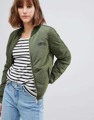 Maison Scotch Bomber with Rouched Sleeves