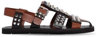 Prada Fisherman Studded Leather Cage Sandals