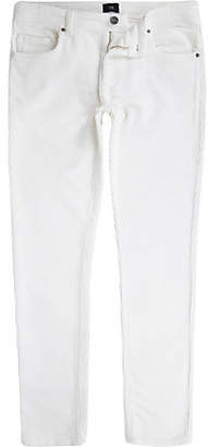 River Island White Sid cord skinny stretch pants