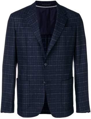 Ermenegildo Zegna grid pattern blazer