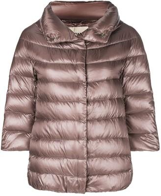 Herno 3/4 sleeve puffer jacket