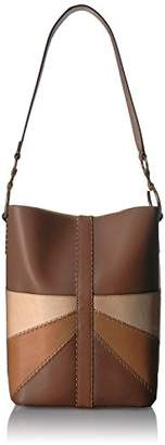 Frye Ilana Color Block Bucket Hobo Leather Bag