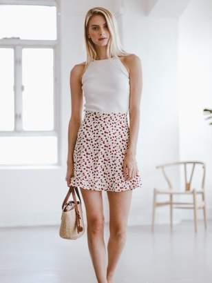 Goodnight Macaroon 'Kim' Floral Mini Skirt