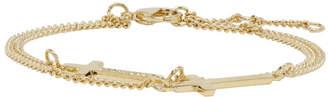 DSQUARED2 Gold Double Cross Bracelet