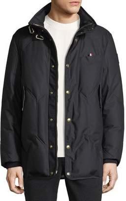 Moncler Gamme Bleu Snap-Front Utility Jacket