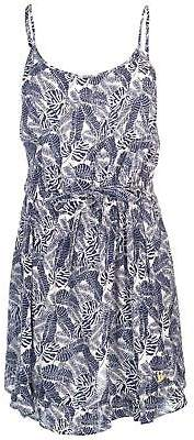 Soul Cal SoulCal Womens AOP Dress Mini Sleeveless Scoop Neck Lightweight Loose Fit