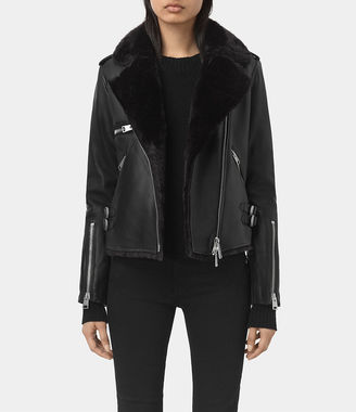 Higgens Lux Leather Biker Jacket $820 thestylecure.com