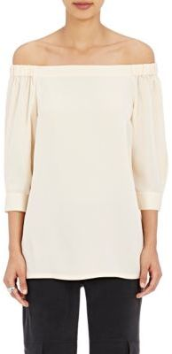 Theory Women's Joscla Off-The-Shoulder Top-CREAM $275 thestylecure.com