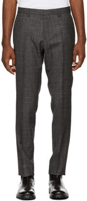 BOSS Black and Grey Check Genesis 4 Trousers