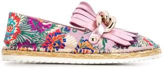 Casadei floral embroidered espadrilles