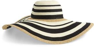 Nordstrom Modern Stripe Floppy Hat