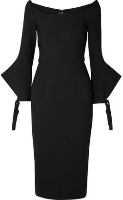 Roland Mouret Hitchcock Off-the-shoulder Crepe Dress - Black