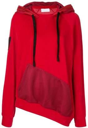 NO KA 'OI No Ka' Oi asymmetric jersey hoodie