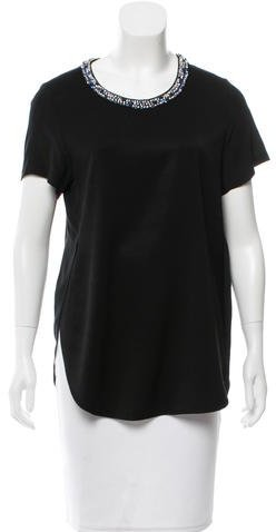 3.1 Phillip Lim 3.1 Phillip Lim Embellished Scoop Neck Top