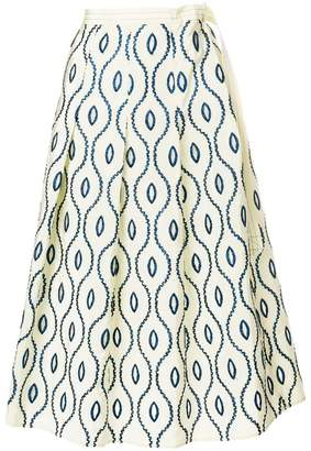 Marni embroidered full skirt
