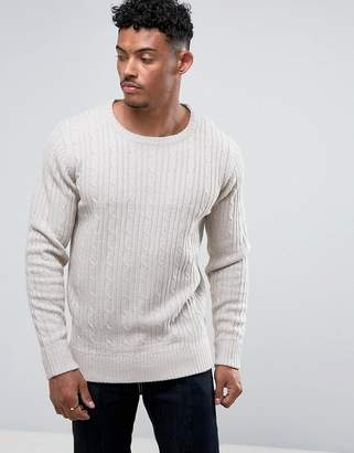 Brave Soul All Over Mini Cable Sweater