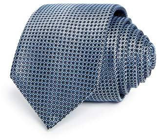 HUGO Textured Diagonal Dash Silk Skinny Tie