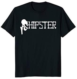 """Hip Replacement Gift: Funny """"Hipster"""" Bone T-Shirt"""