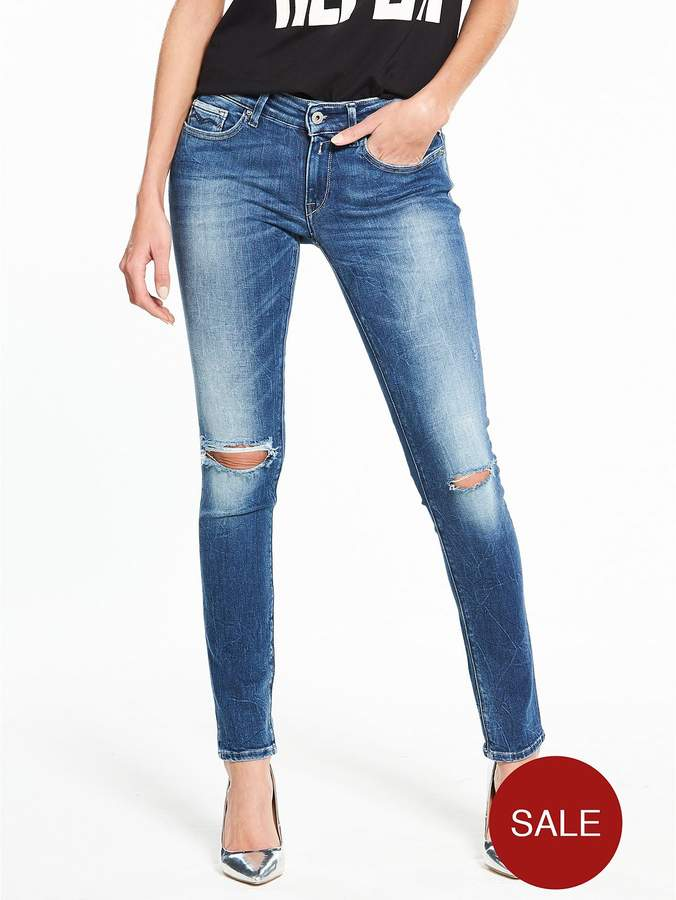 Luz Skinny Ripped Knee Jeans