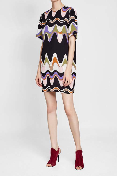 Emilio Pucci Printed Silk Tunic Dress