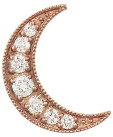 Andrea Fohrman White Diamond Mini Crescent Stud Earring
