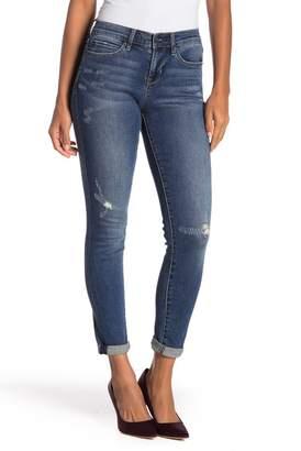 Nicole Miller Mr Skinny Distressed Cuff Hem Jeans