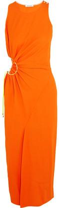 Mugler - Cutout Crepe Midi Dress - Orange $1,985 thestylecure.com