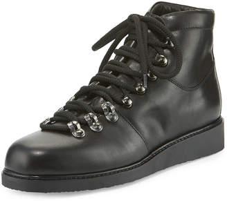 Alberto Fermani Felisa Lace-Up Leather Combat Boot, Black (Nero)