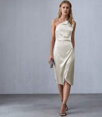 Reiss POSITANO STRAPPY COCKTAIL DRESS Silver