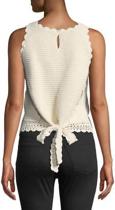 Dex Tie-Back Crochet Tank