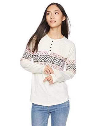 Billabong (ビラボン) - [ビラボン] [レディース] 長袖 Tシャツ (ヘンリーネック)[ AI014-055 / DESIGN LS TEE ] ロンT かわいい OFW_ホワイト US M (日本サイズM相当)