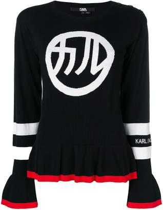 Karl Lagerfeld Paris Japan logo peplum sweater