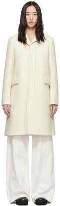 Marni White Virgin Felted Twill Coat