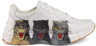 Gucci Men's Rhyton leather sneaker with tigers